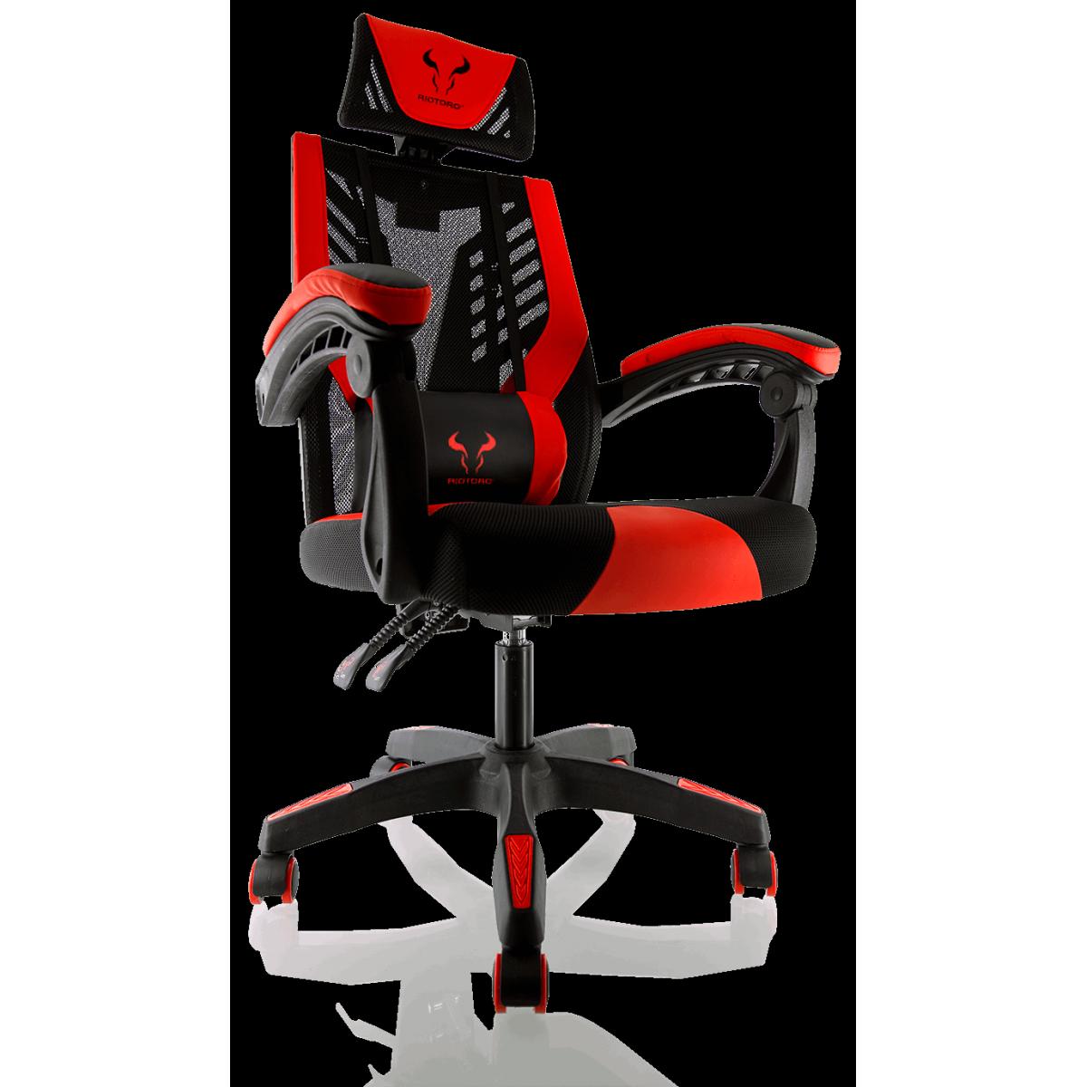 Cadeira Gamer Riotoro, Spitfire M3, Mesh, Reclinável, Black/Red, GC-10M3