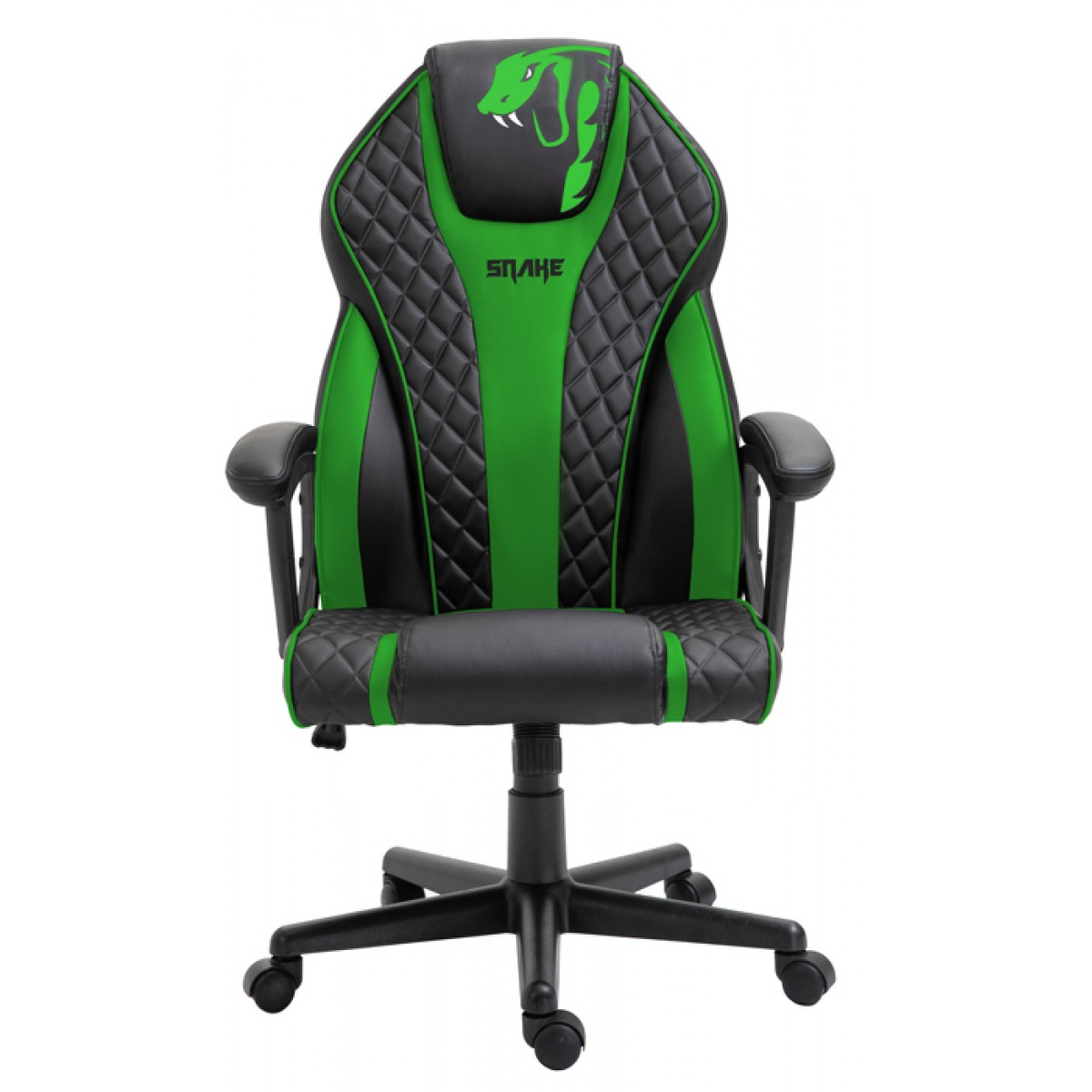 Cadeira Gamer Snake Naja 411, Reclinável, Black-Green