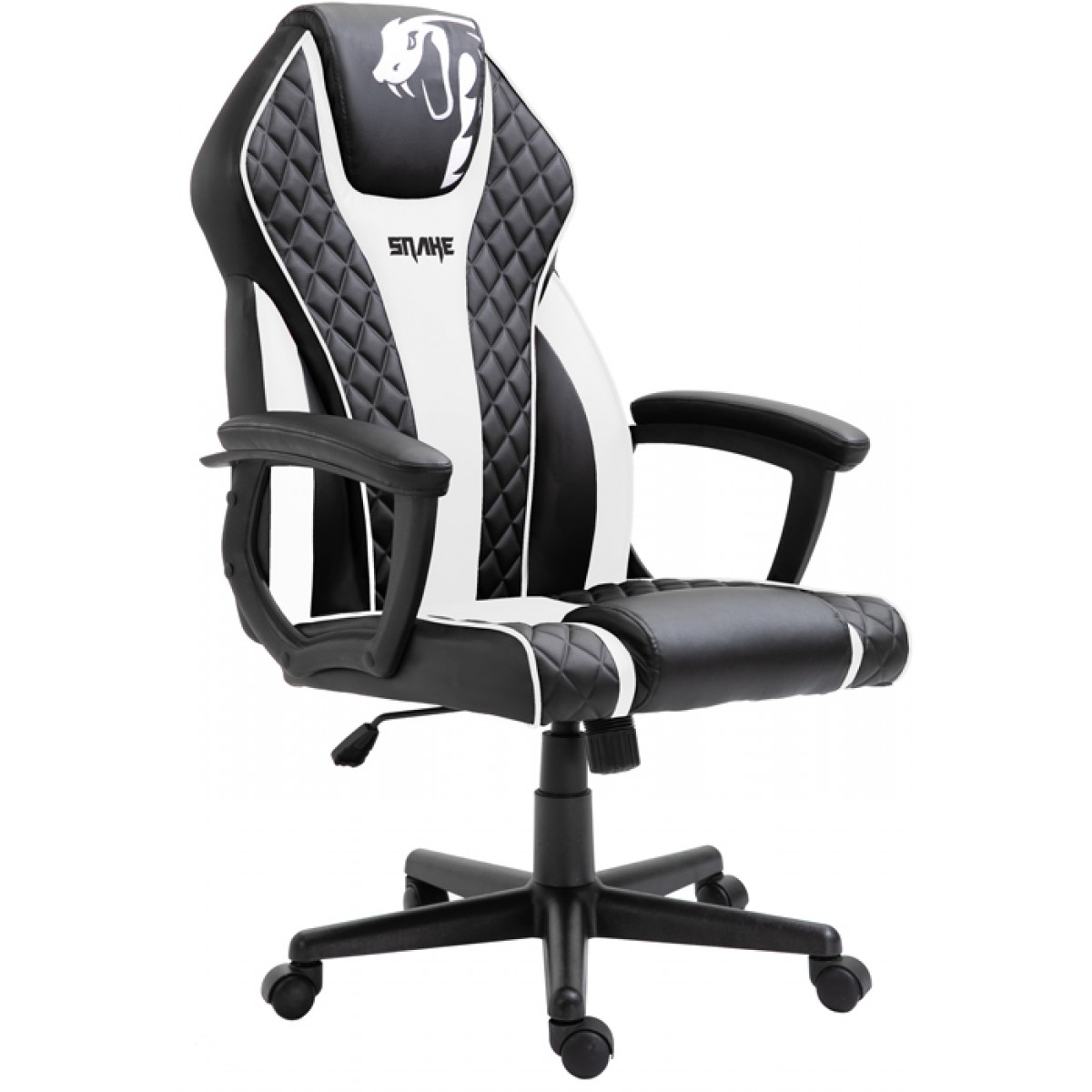 Cadeira Gamer Snake Naja 411, Reclinável, Black-White
