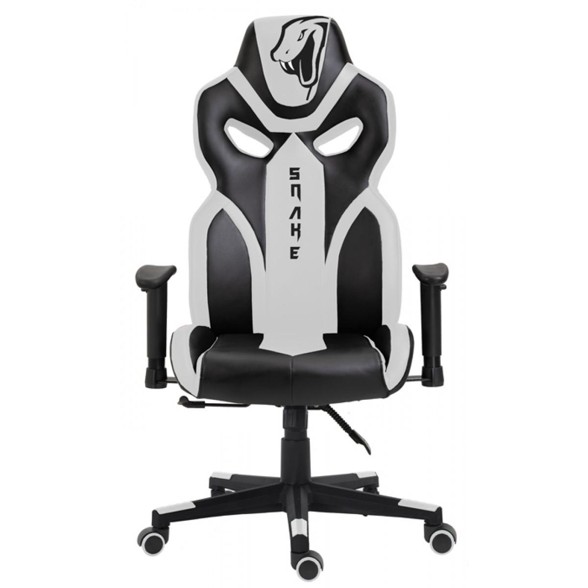 Cadeira Gamer Snake Python 021, Reclinável, Black-White