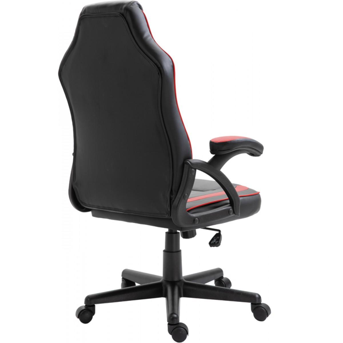 Cadeira Gamer Snake Viper 045, Reclinável, Black-Red