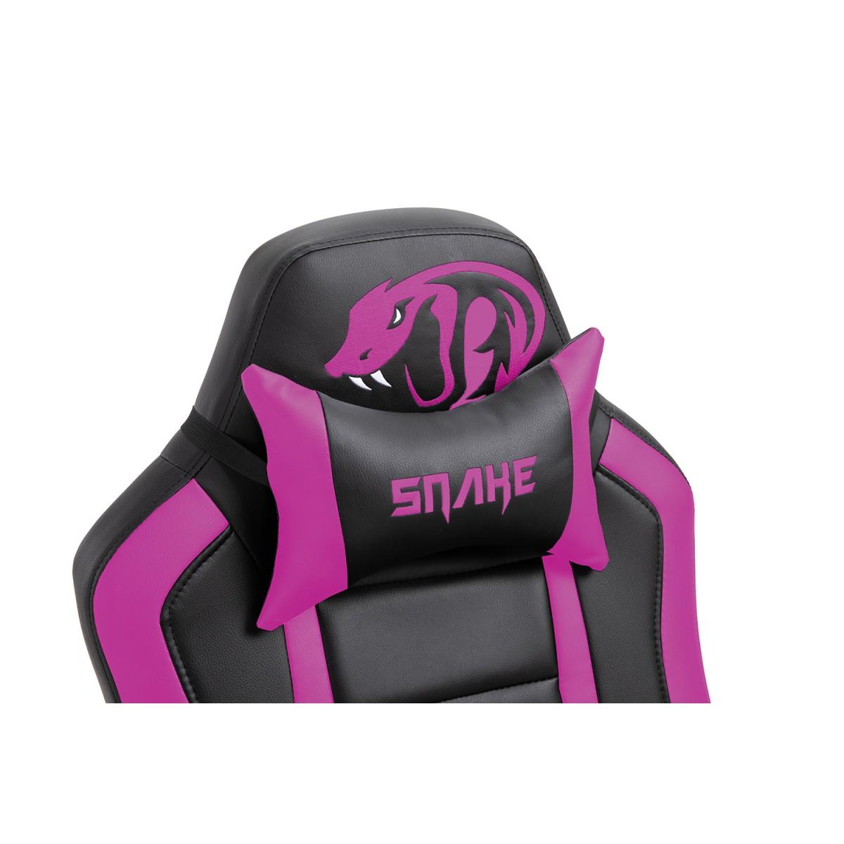 Cadeira Gamer Snake Viper II, Black/Pink, 4044