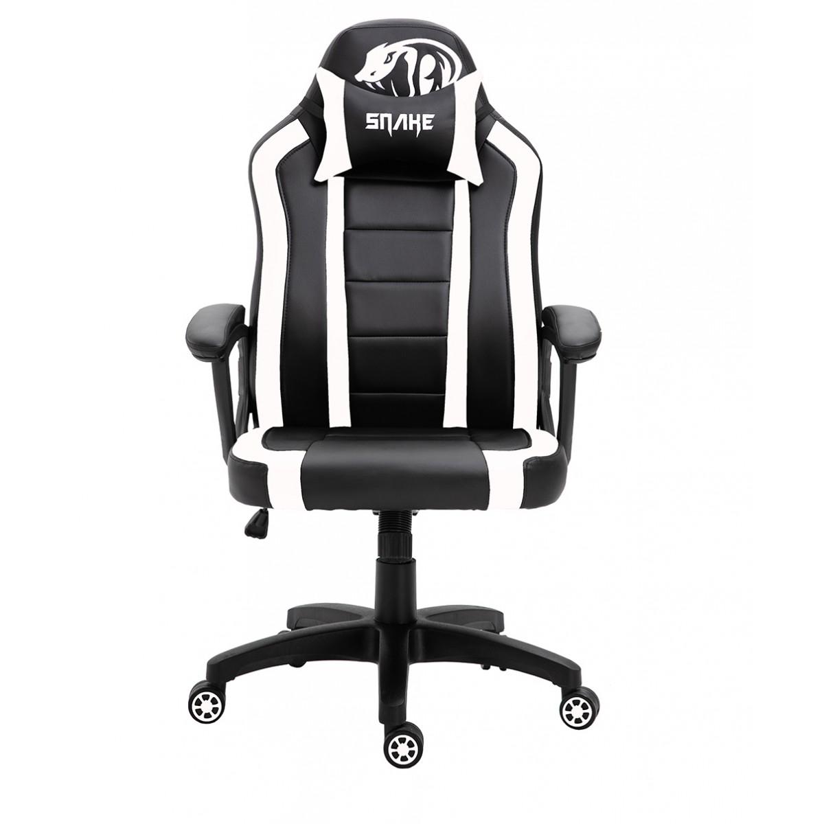 Cadeira Gamer Snake Viper II, Black/White, SNG-CH-VI002