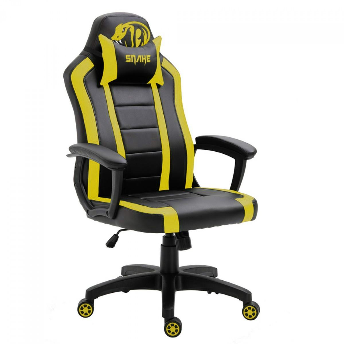 Cadeira Gamer Snake Viper II, Black/Yellow, UT 440