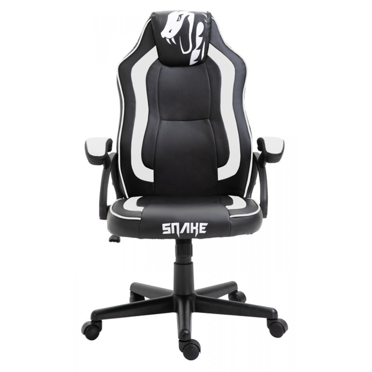 Cadeira Gamer Snake Viper 045, Reclinável, Black-White