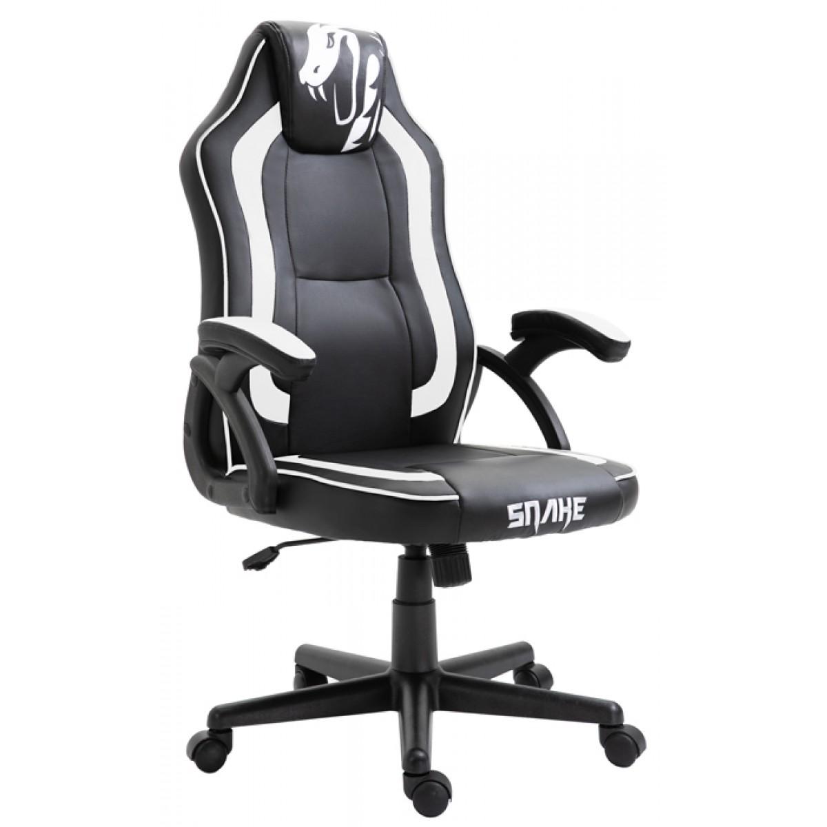 Cadeira Gamer Snake Viper 045, Reclinável, Black-White