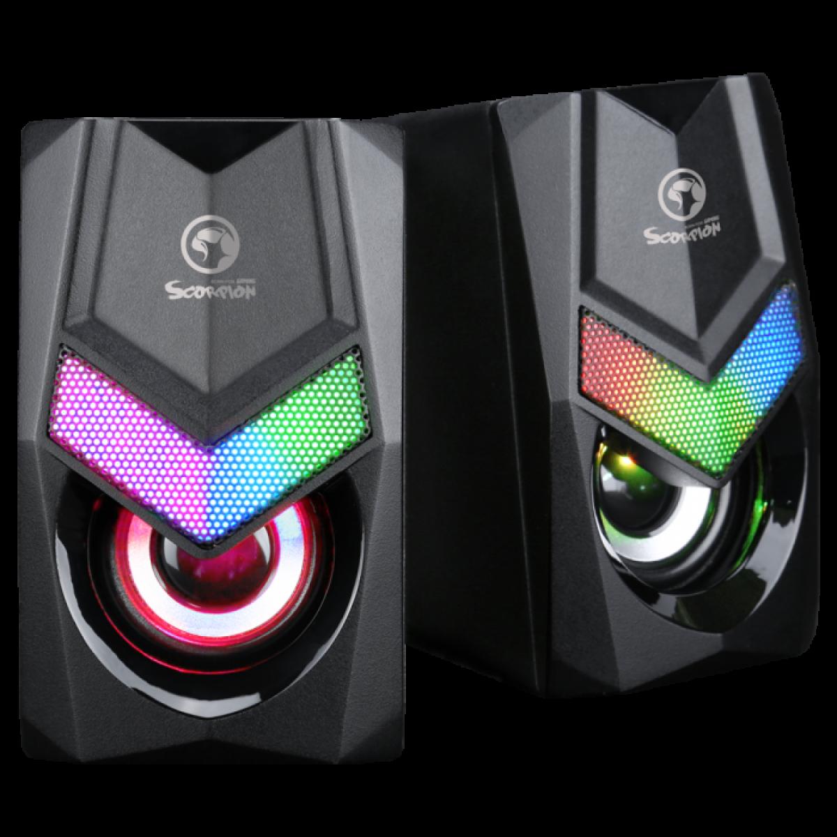 Caixa de Som Gamer Marvo SG-118, RGB, 2x3W, USB