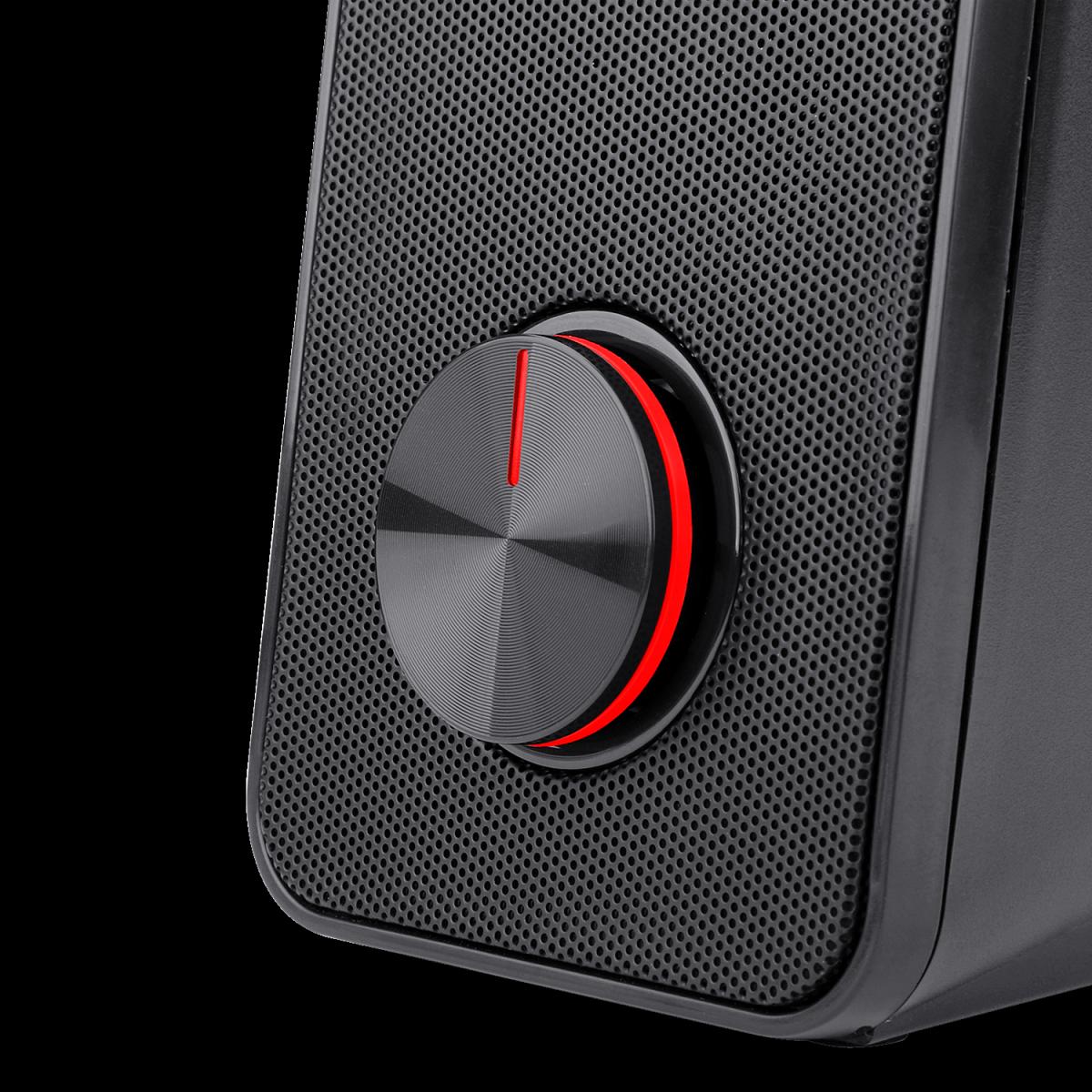 Caixa de Som Gamer Redragon Stentor 2.0, 2x5W, 3.5Mm, Estéreo, Led RED, GS500