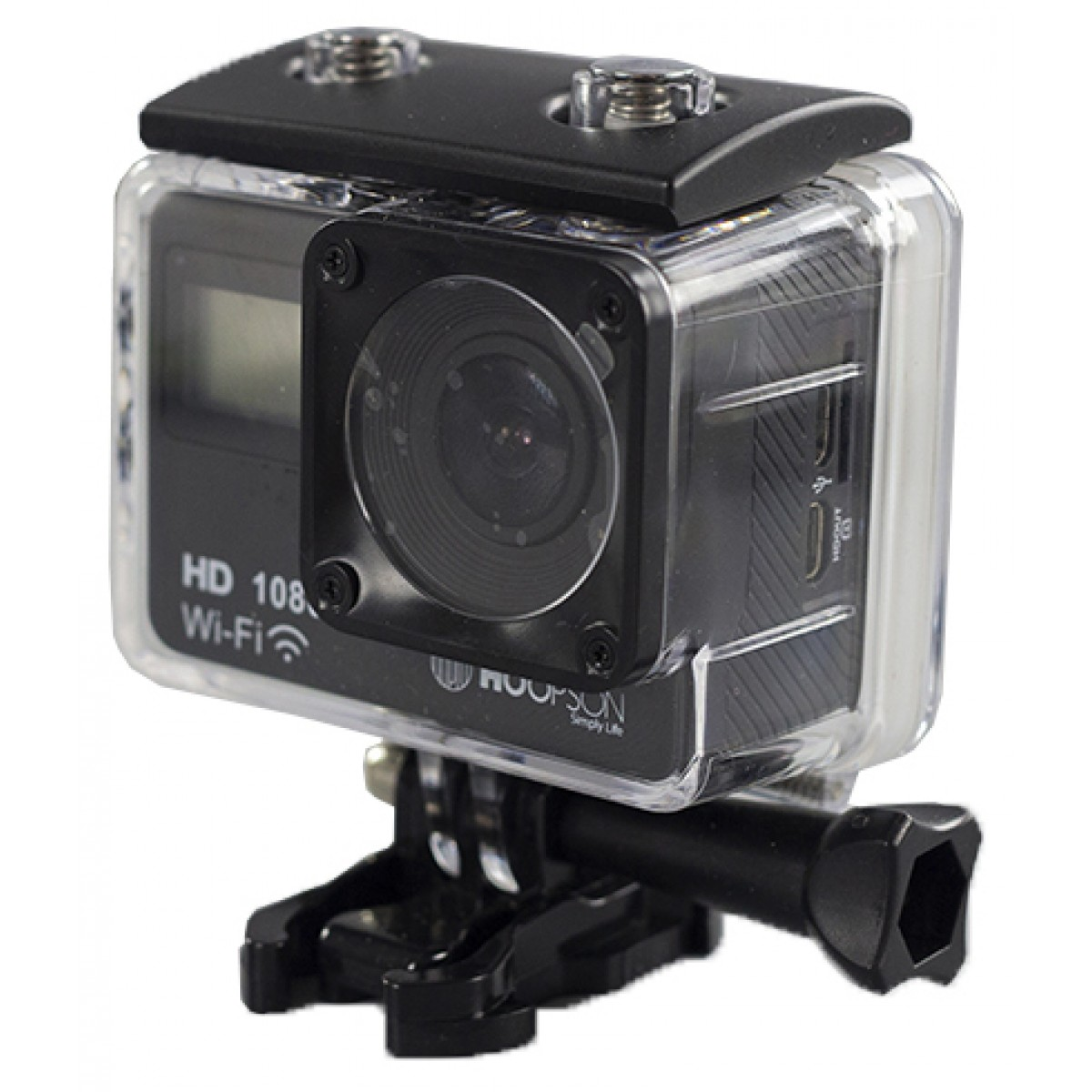 Câmera Filmadora Esportiva Webcam Hoopson FullHD, Wi-Fi, SCH-003 - Open Box