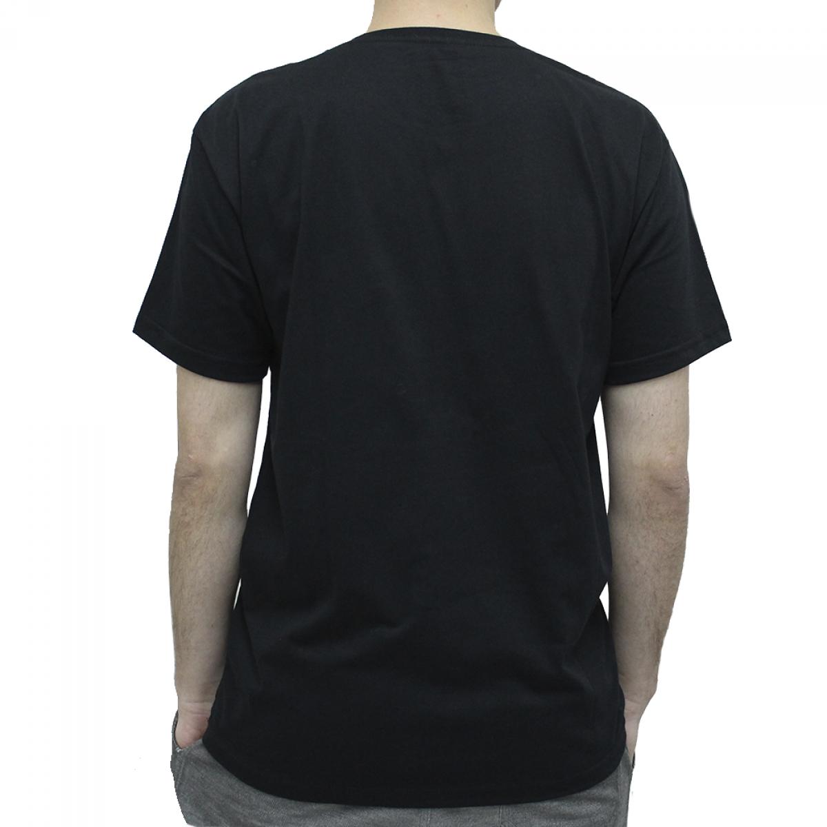 Camiseta Terabyteshop, Unisex, Manga Curta, Algodão, Preto e Laranja, Logo (M)
