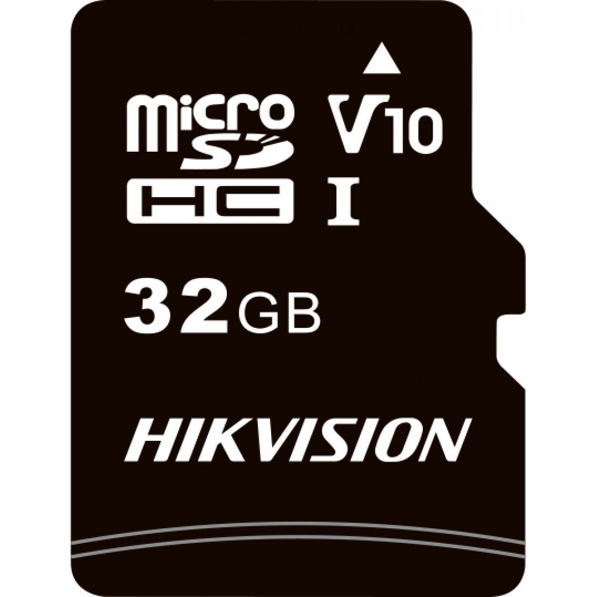 Cartão de Memória Hikvision Micro SD 32GB, Adaptador Class 10