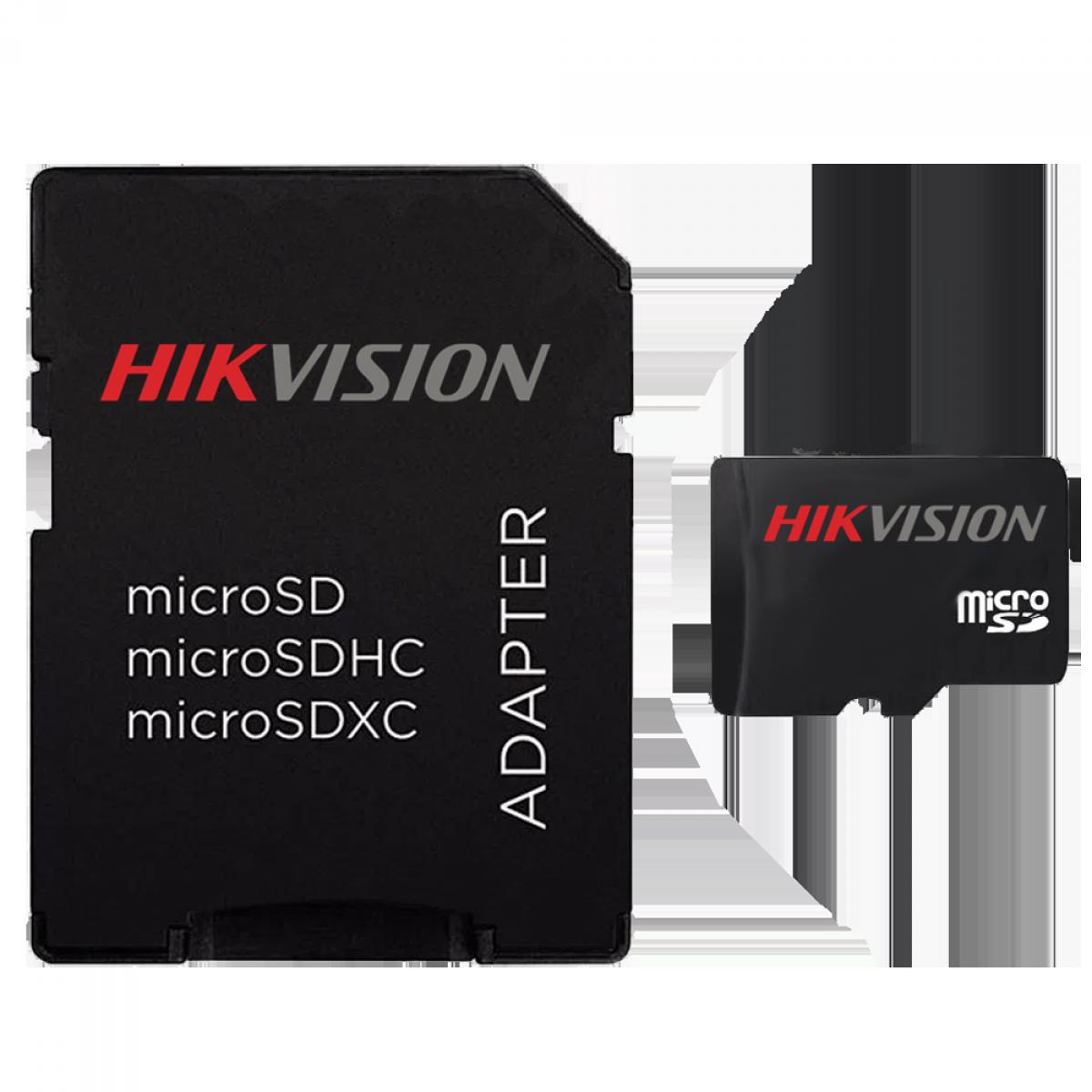 Cartão de Memória Hikvision Micro SDXC I, 64GB, V30, Class 10, HS-TF-C1/64G - COM ADAPTADOR