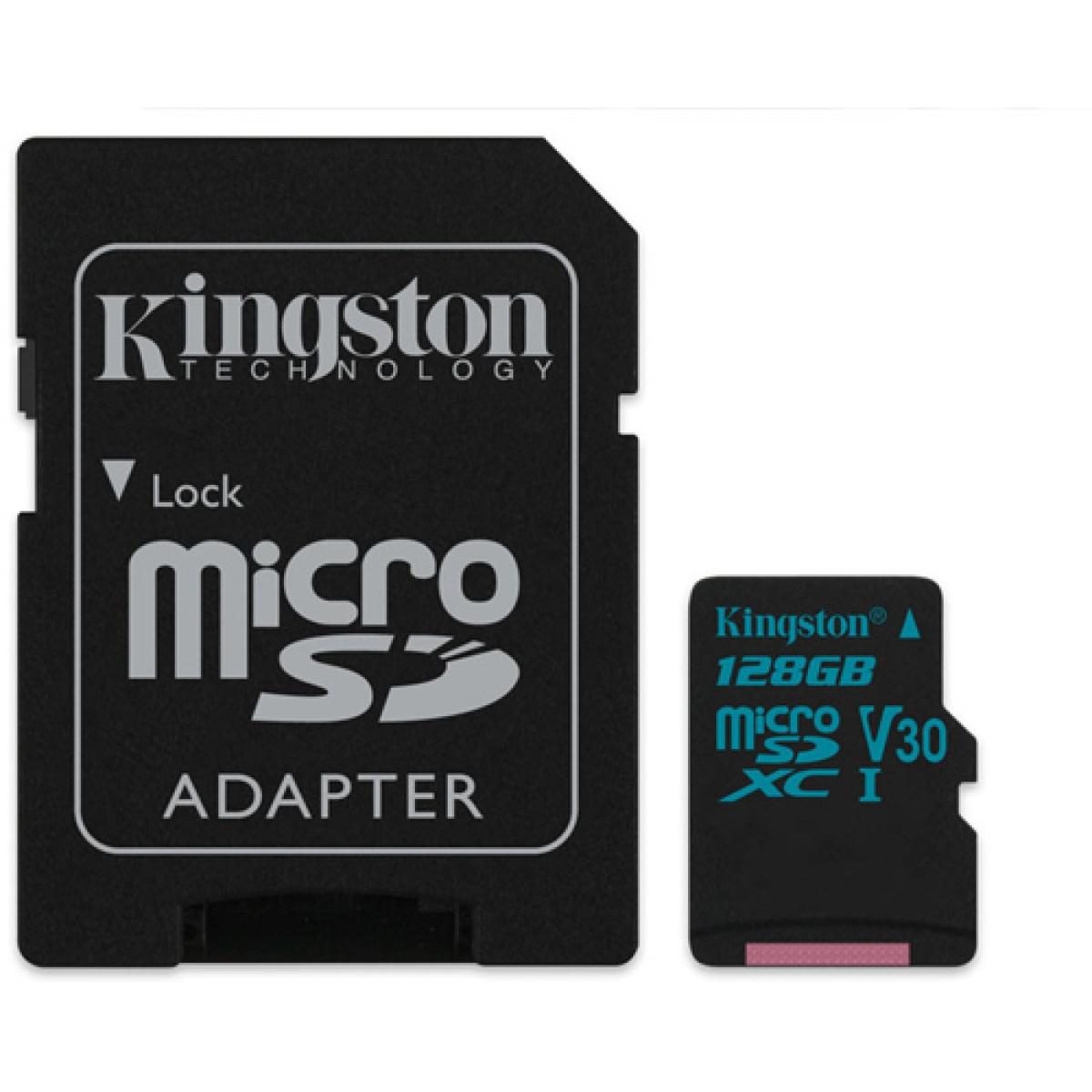Cartão de Memória Kingston MICRO SDXC SDCG2/128GB 90R/45W UHS-I U3 V30 Canvas Go