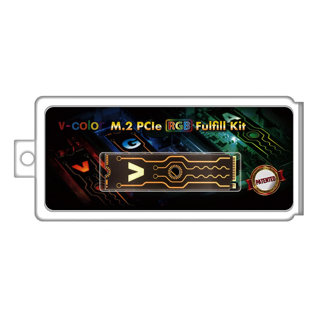 Case para SSD M.2 V-Color, 2280, PCIe, RGB Fulfill Kit, VPM2F001