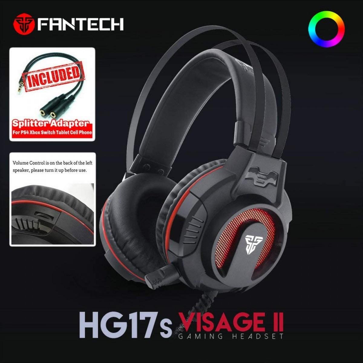 Combo Gamer 5 em 1 Fantech P51, Teclado, Mouse, Headset, Mousepad, Suporte Headset