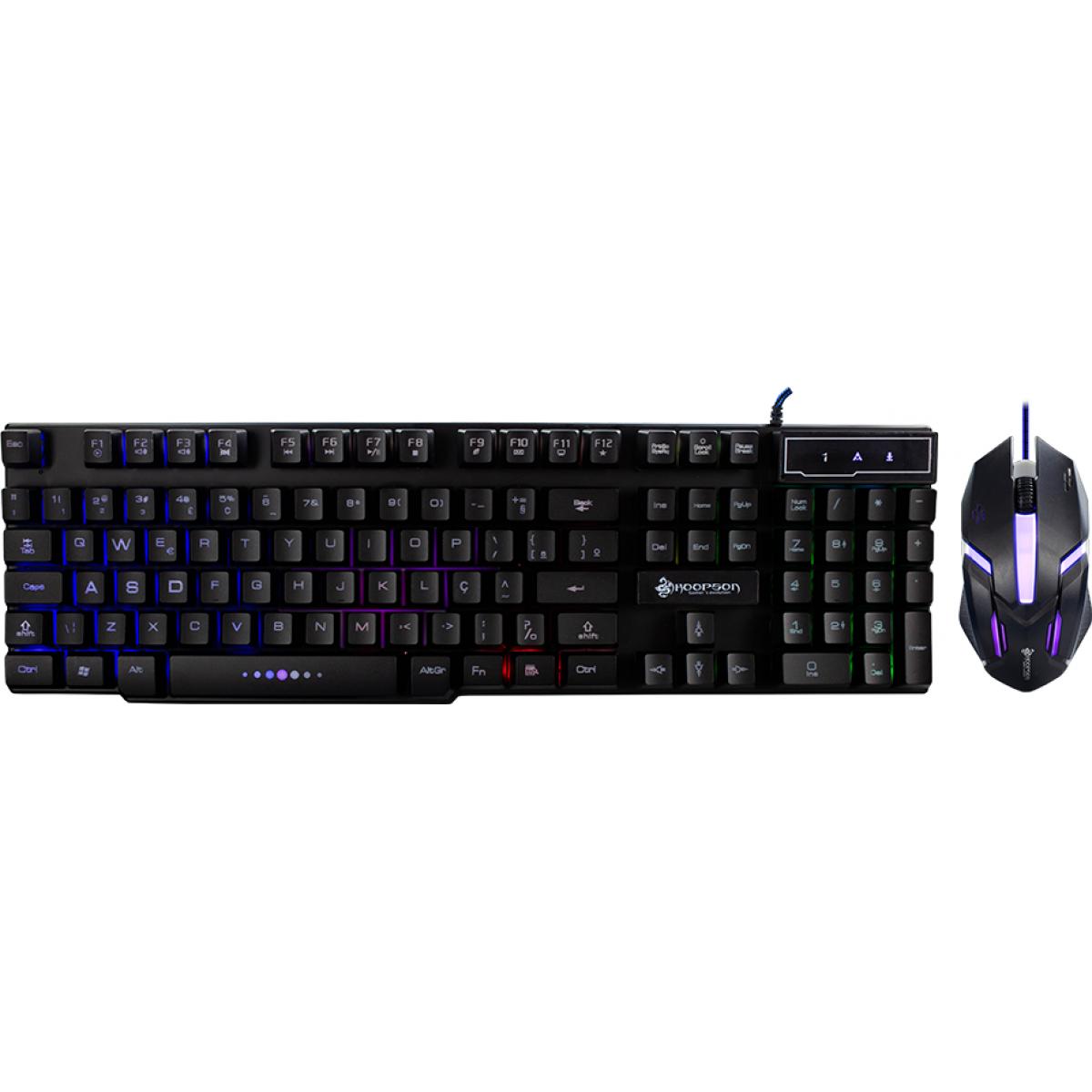 Combo Gamer Hoopson, Teclado, Mouse, Black, TPC-053K