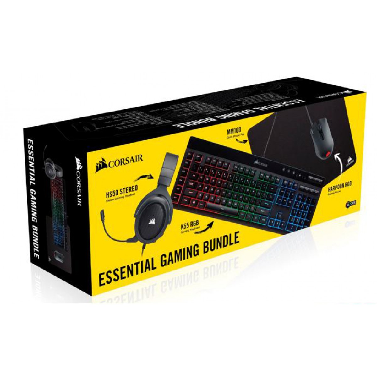Combo Gamer Mouse, Teclado, Mousepad, Headset Corsair, CH-9226315-BR
