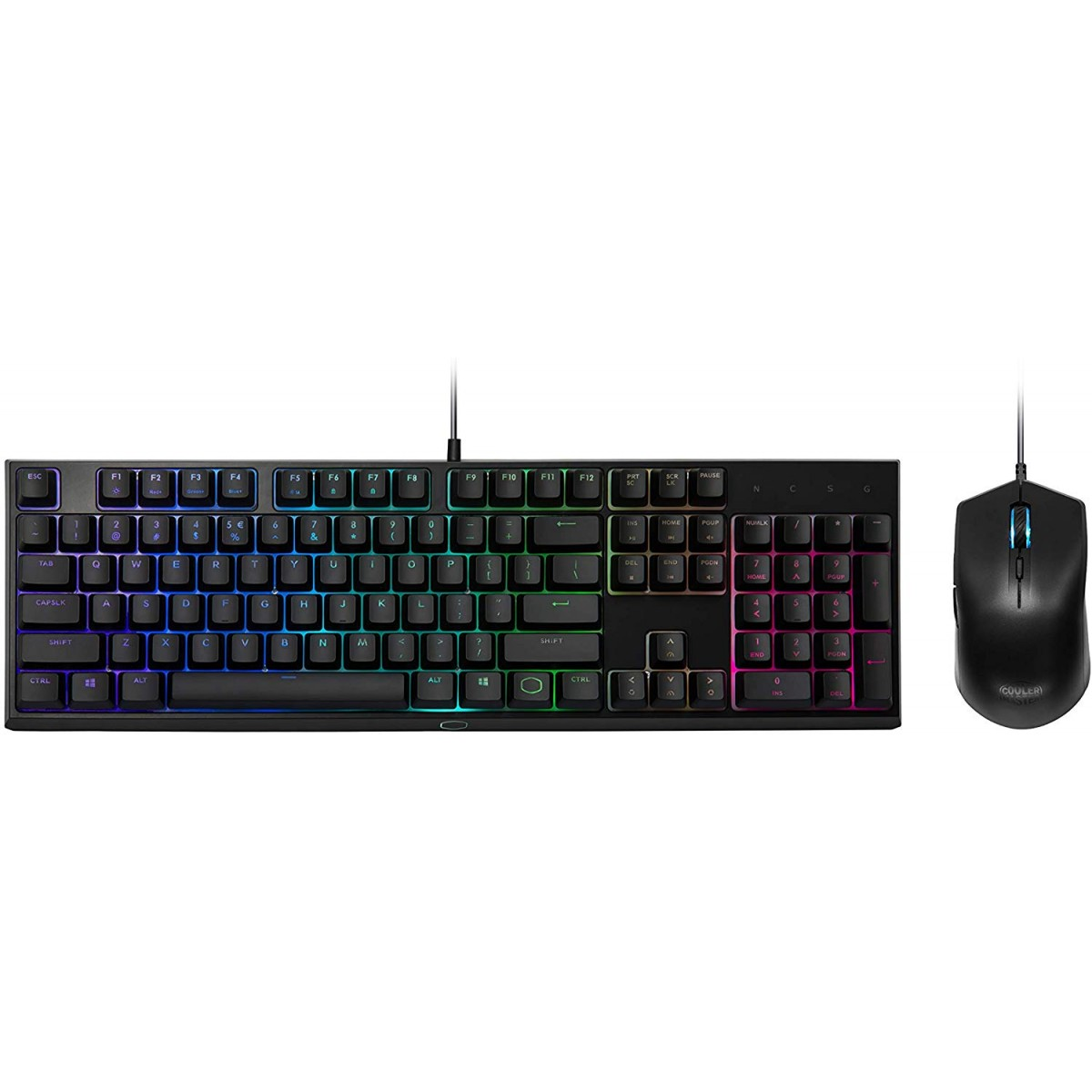 Combo Gamer Teclado e Mouse Cooler Master MS-111, Semi-Mecânico, RGB, MS-111-KKMF1-BR