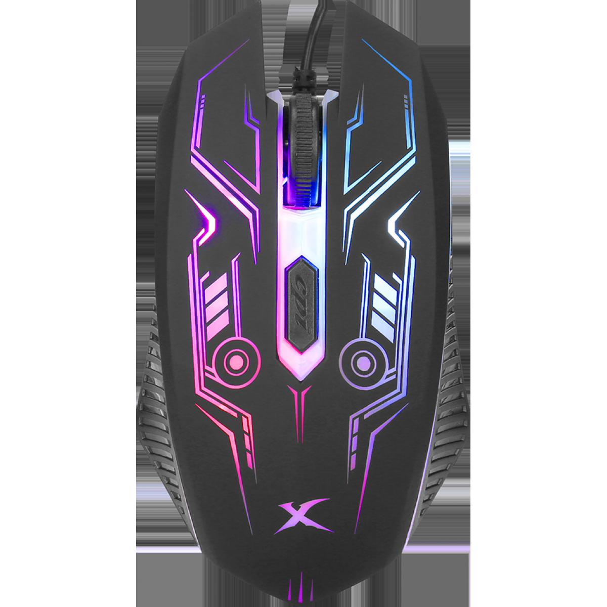 Combo Gamer Xtrike-Me CM-406, Teclado, Mouse Headset e Mousepad