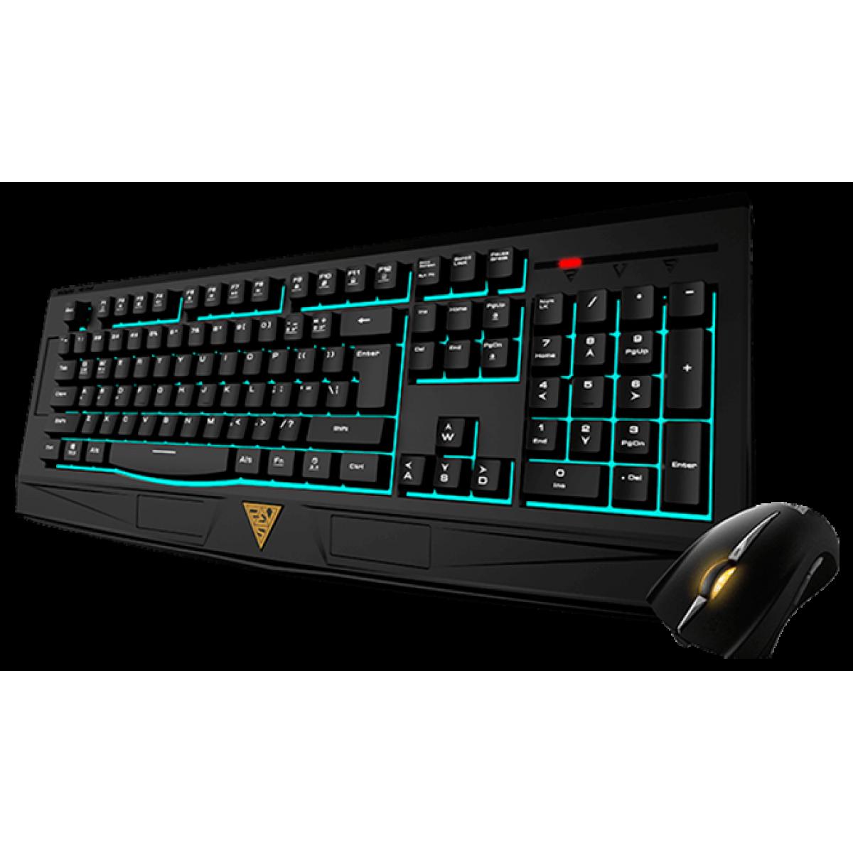 Combo Teclado e Mouse Gamer Gamdias Ares 7 Color ESSENTIAL e Mouse EREBOS FPS 3200DPI GD-GKC6001