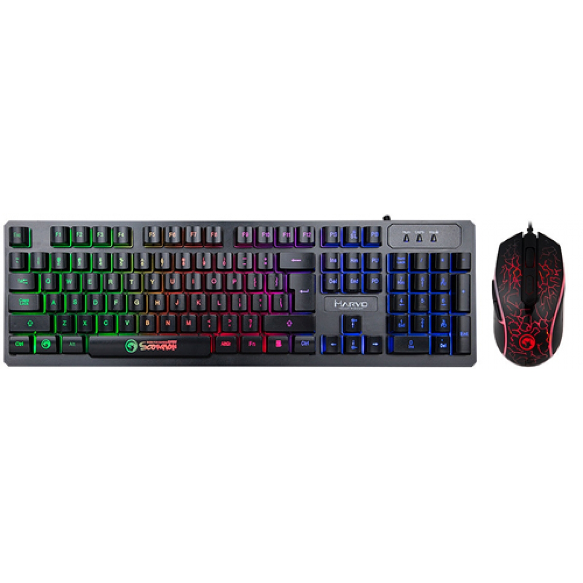 Combo Teclado e Mouse Marvo KM408 USB 2.0 LED