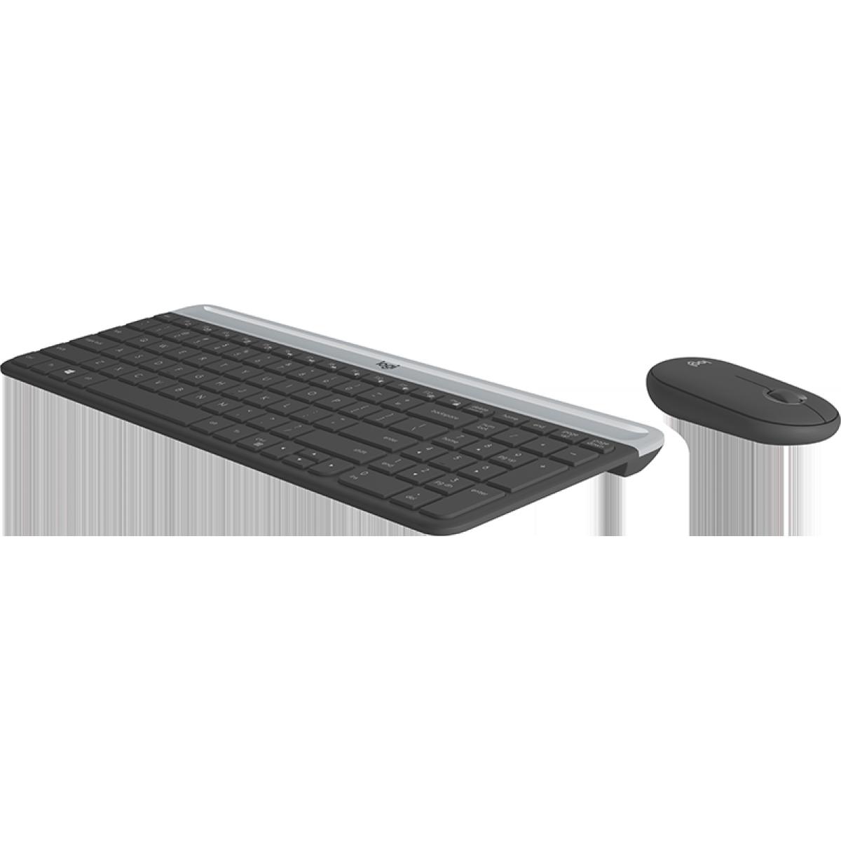 Combo Teclado e Mouse Sem fio Logitech MK470, Wireless, Slim, Black 920-009268