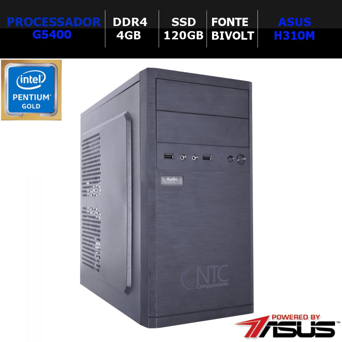 Computador NTC Price T-Home Intel Pentium G5400 / 4GB DDR4 / SSD 120GB / Linux