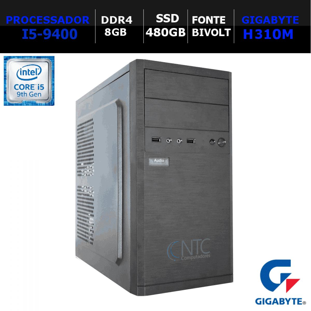 Computador NTC T-Gamer Intel i5 9400 / 8GB DDR4 / SSD 480GB / Linux