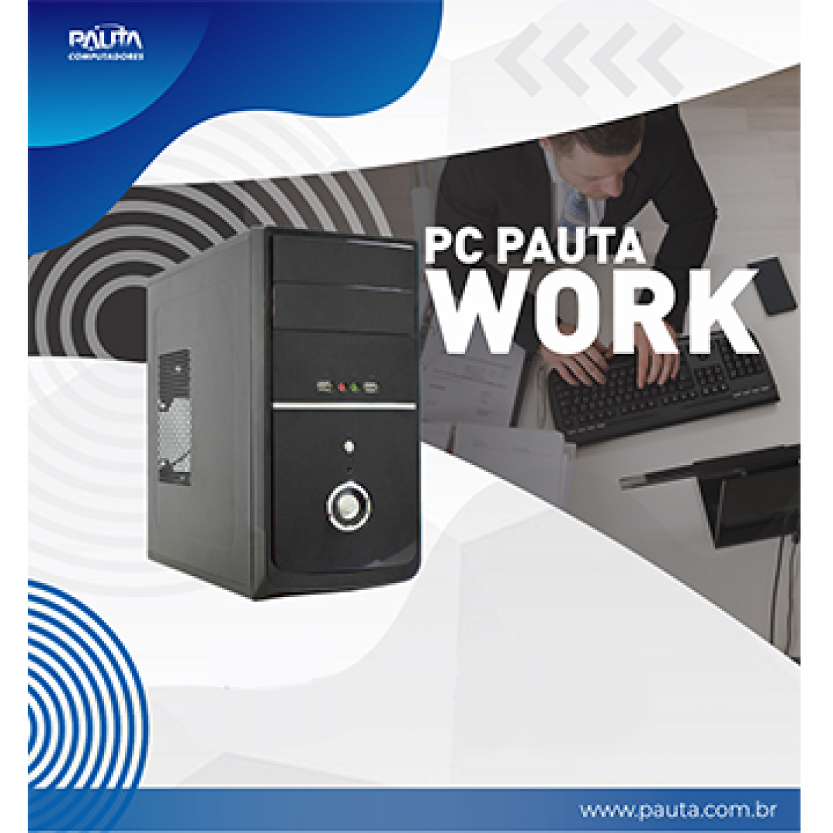 Computador Pauta Work T-Home Pentium G5400 / 4GB / 128GB SSD / FreeDOS