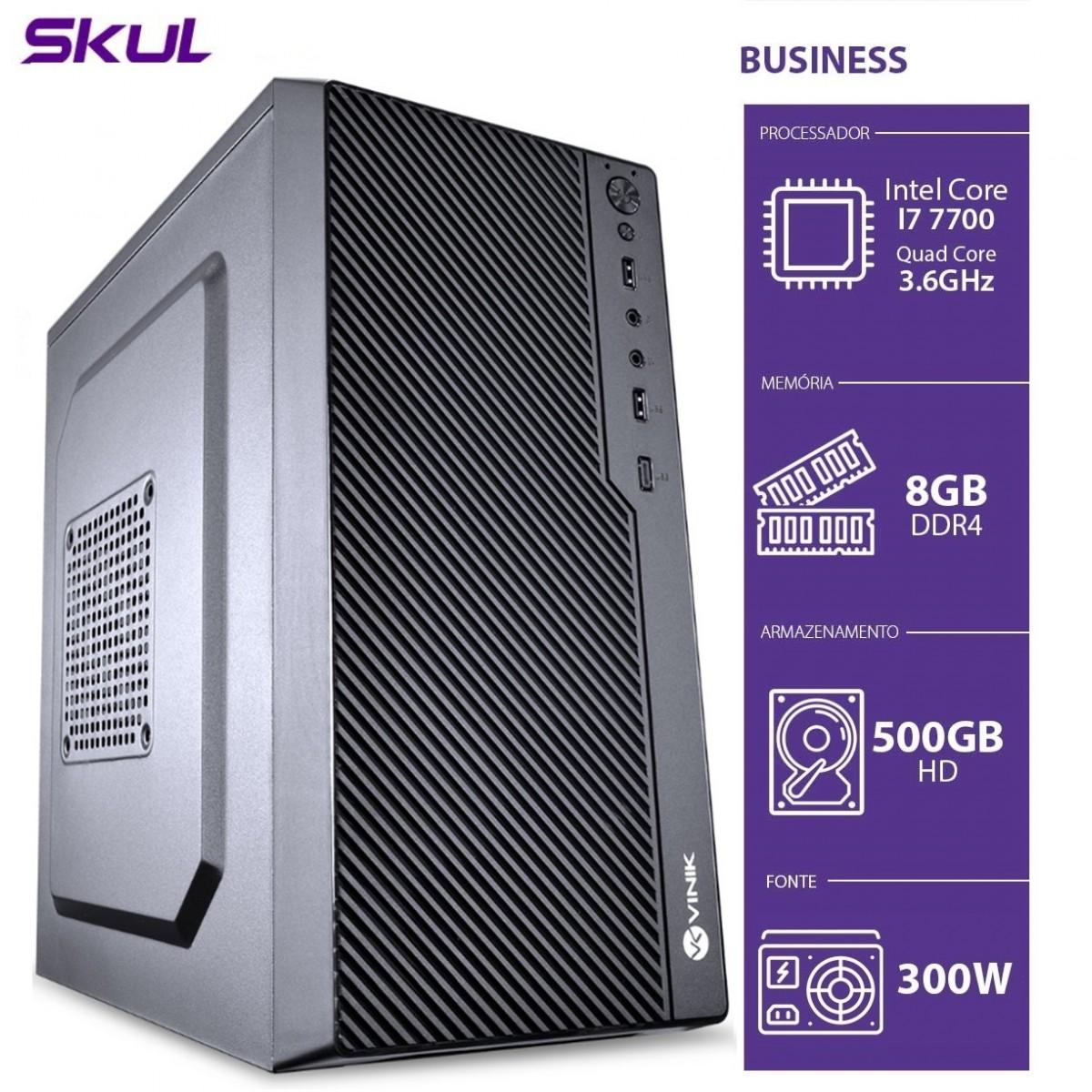 Computador Skul T-Home Business B700 i7 7700 / 8GB DDR4 / HD 500GB  / HDMI/VGA / FONTE 300W