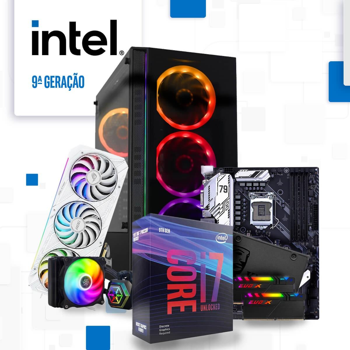 Monte Seu PC Gamer Plataforma Intel 9ª Geração LGA 1151 (FULL CUSTOM)