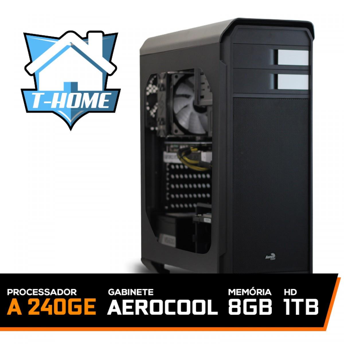 Computador T-home Amd Athlon 240ge 3.5ghz 5mb / 8gb Ddr4 / Hd 1tb