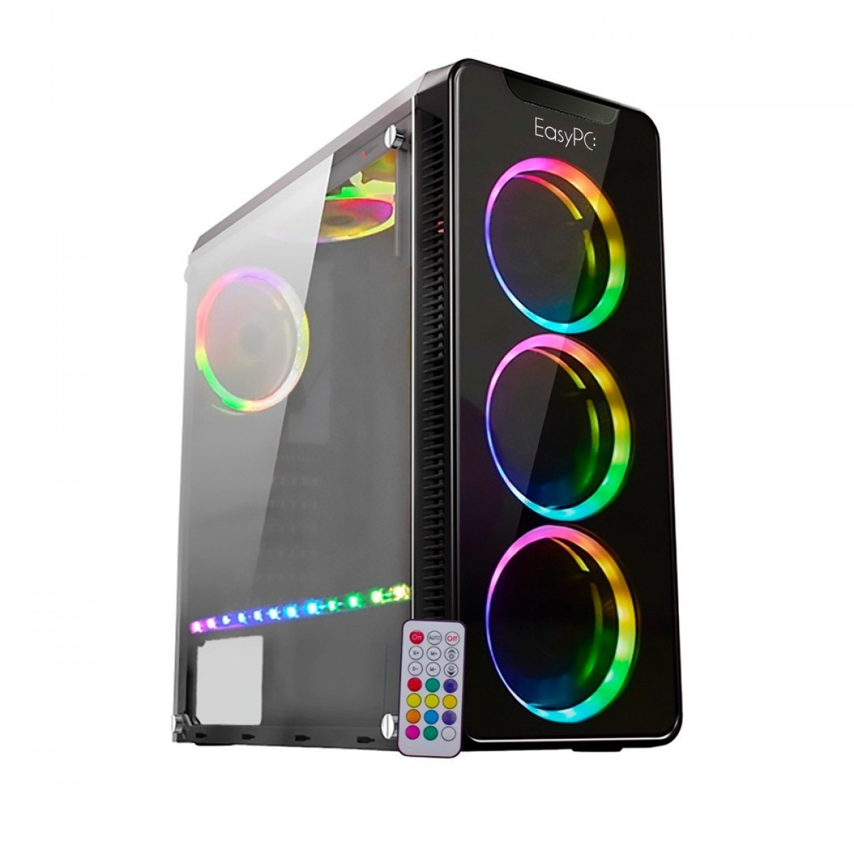 Computador T-Home EasyPC Atlhon 200GE / 8GB / 500GB / Radeon Vega 3 / Kit Fan RGB