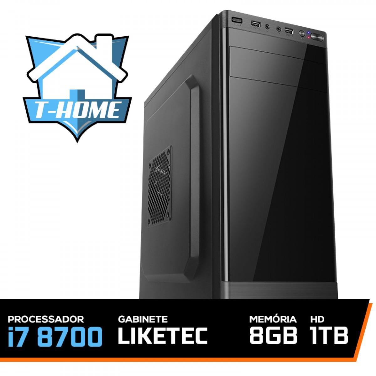Computador T-home Intel I7 8700/ 8Gb DDR4 / HD 1Tb