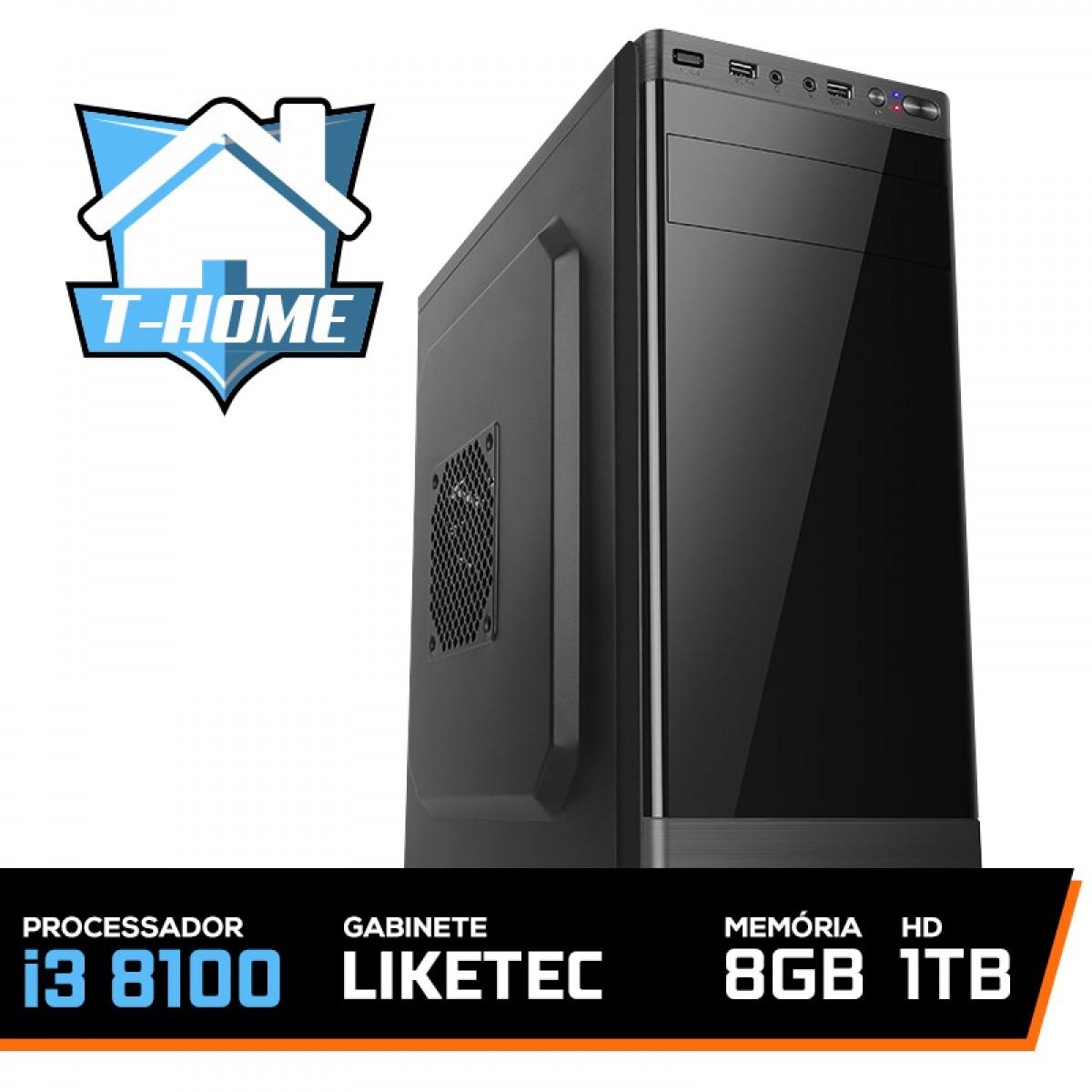 Computador T-home Intel I3 8100/ 8gb Ddr4 / Hd 1tb