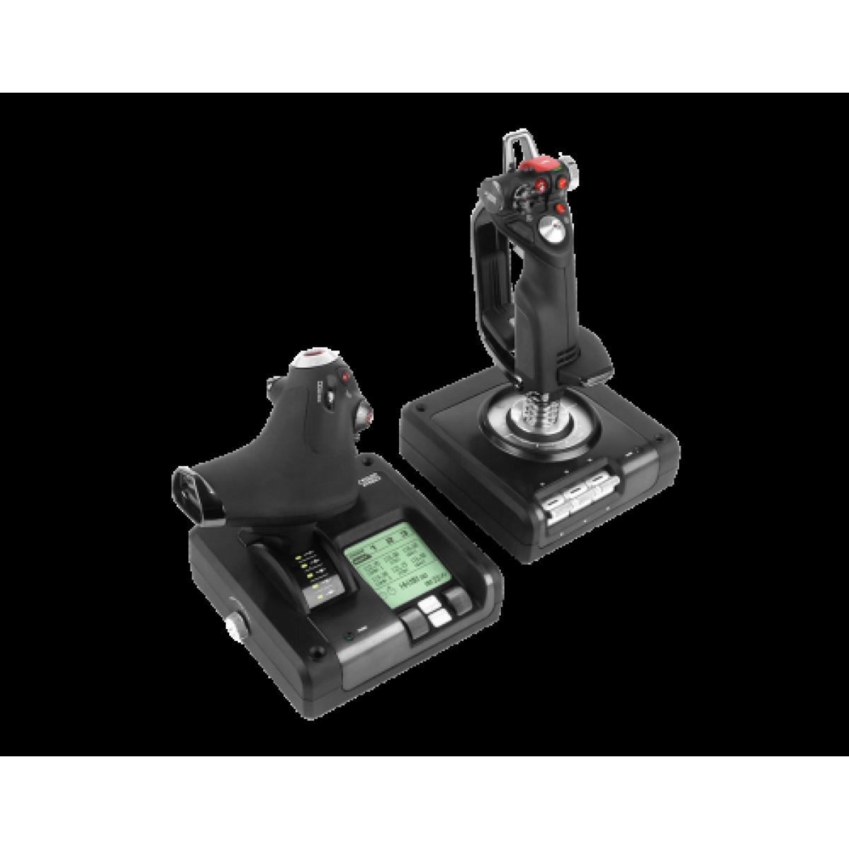 Controlador de simulação com manete e acelerador com partes metálicas x52 professional H.O.T.A.S. Saitek