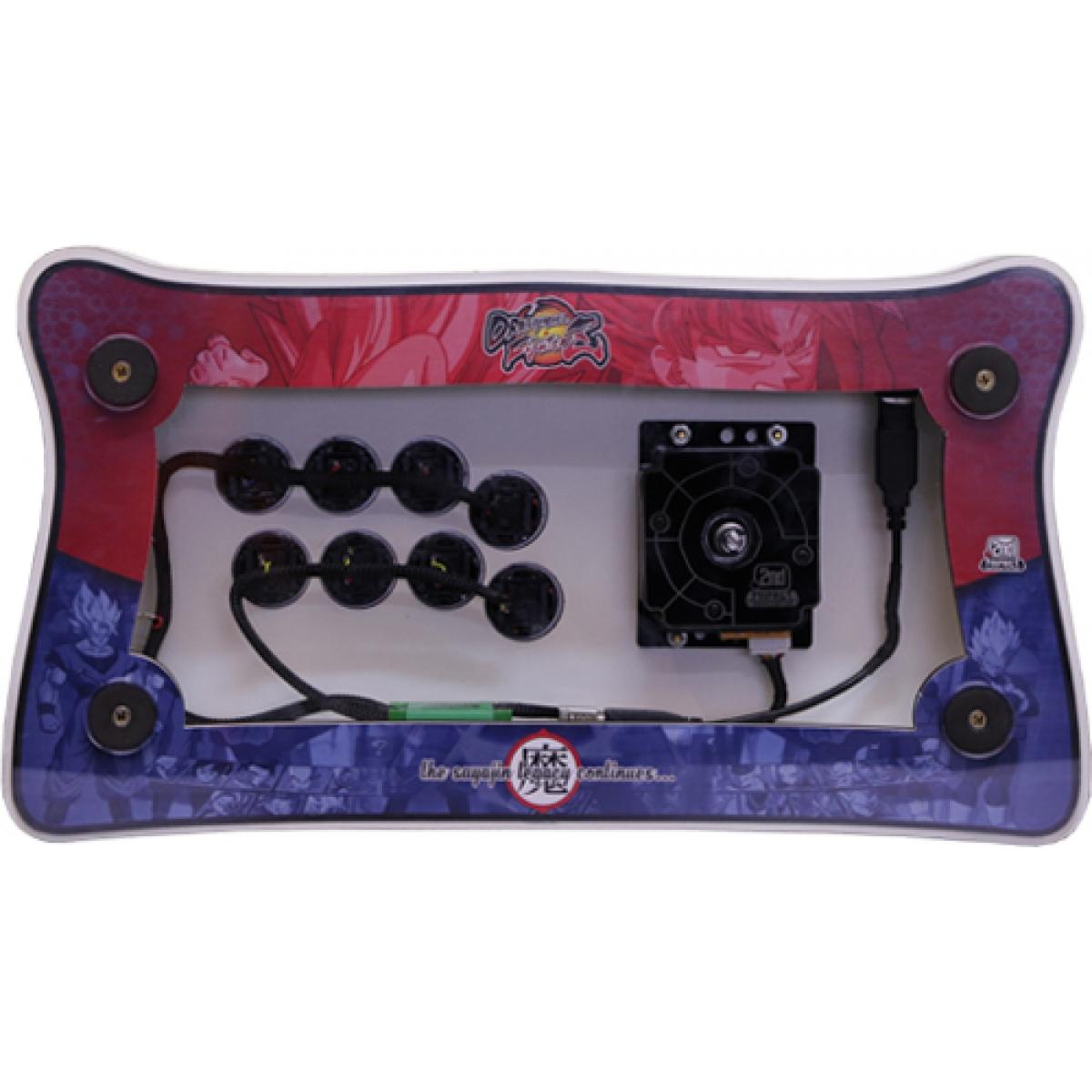 Controle Arcade para PC e PS3 2ND Impact Dragon Ball MDF Manche Optico Silent