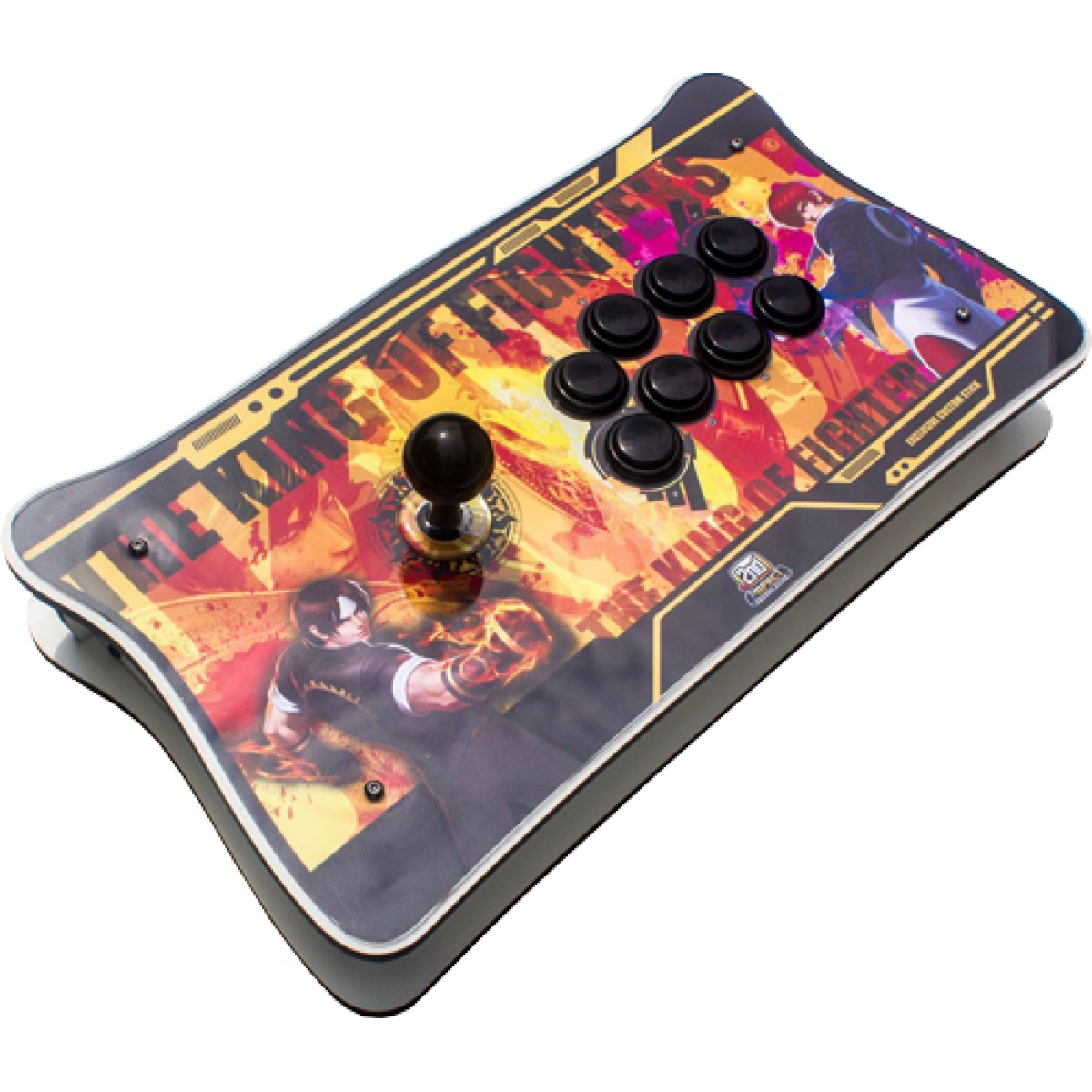 Controle Arcade para PC e PS3 2ND Impact KOF MDF Manche Optico Silent