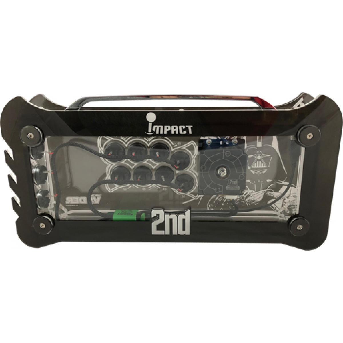 Controle Arcade para PC, PS3 e PS4 2ND Impact Darth Vader Full Acrílico Manche Optico Silent