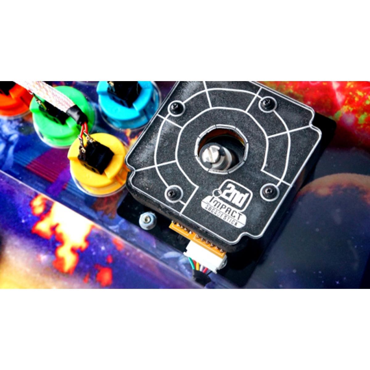 Controle Arcade para PC, PS3 e PS4 2ND Impact Falcon Full Acrílico Manche Optico Silent