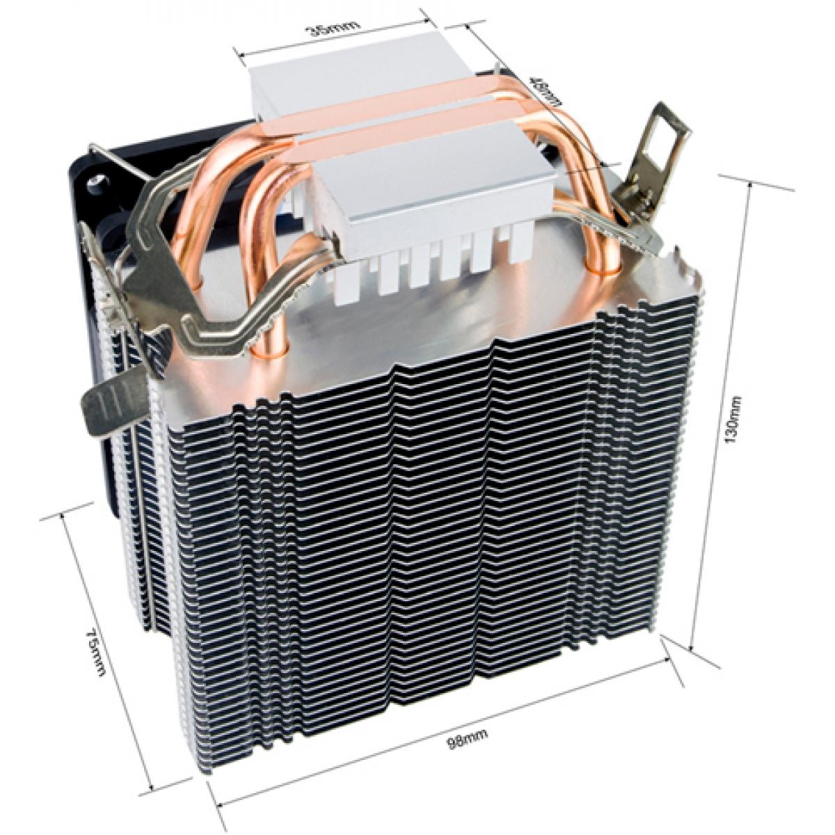 Cooler Alseye EDDY 90B Plus LED Azul ASE90BP Intel/AMD