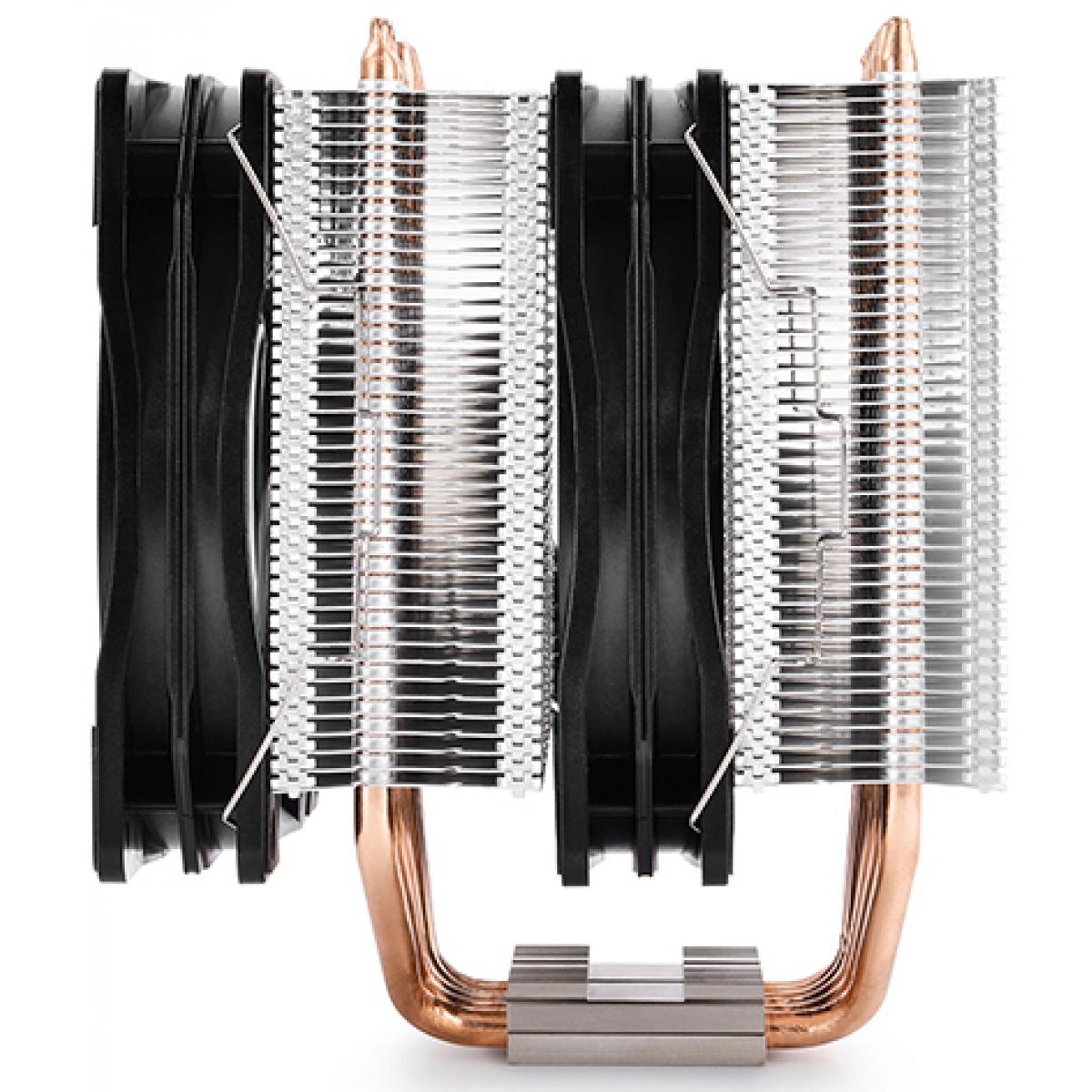 Cooler para Processador DeepCool Neptwin, RGB 120mm, Intel-AMD, DP-MCH6-NT-A4RGB