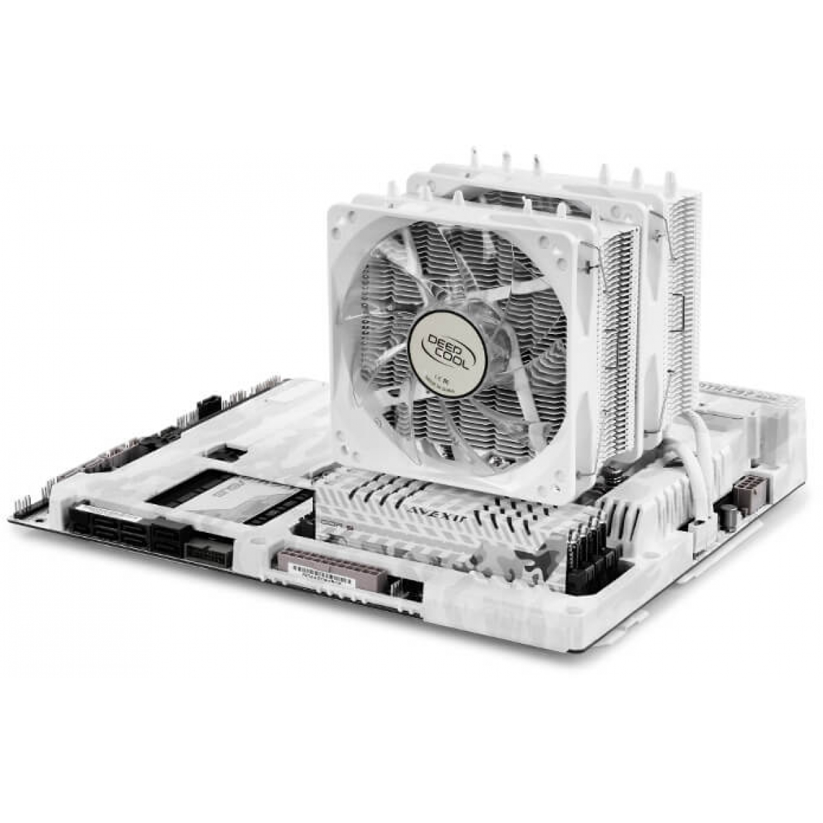 Cooler para Processador DeepCool Neptwin, White 120mm, Intel-AMD, DP-MCH6-NT-WH