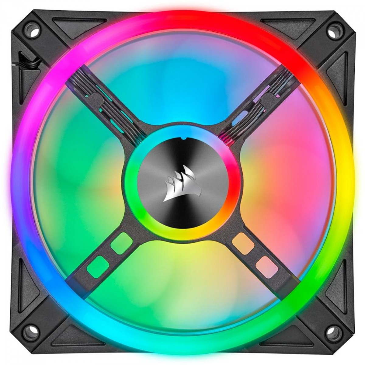 Cooler Para Gabinete Corsair RGB, 120mm RGB LED Fan, Triple Pack with Lighting Node CORE CO-9050098-WW