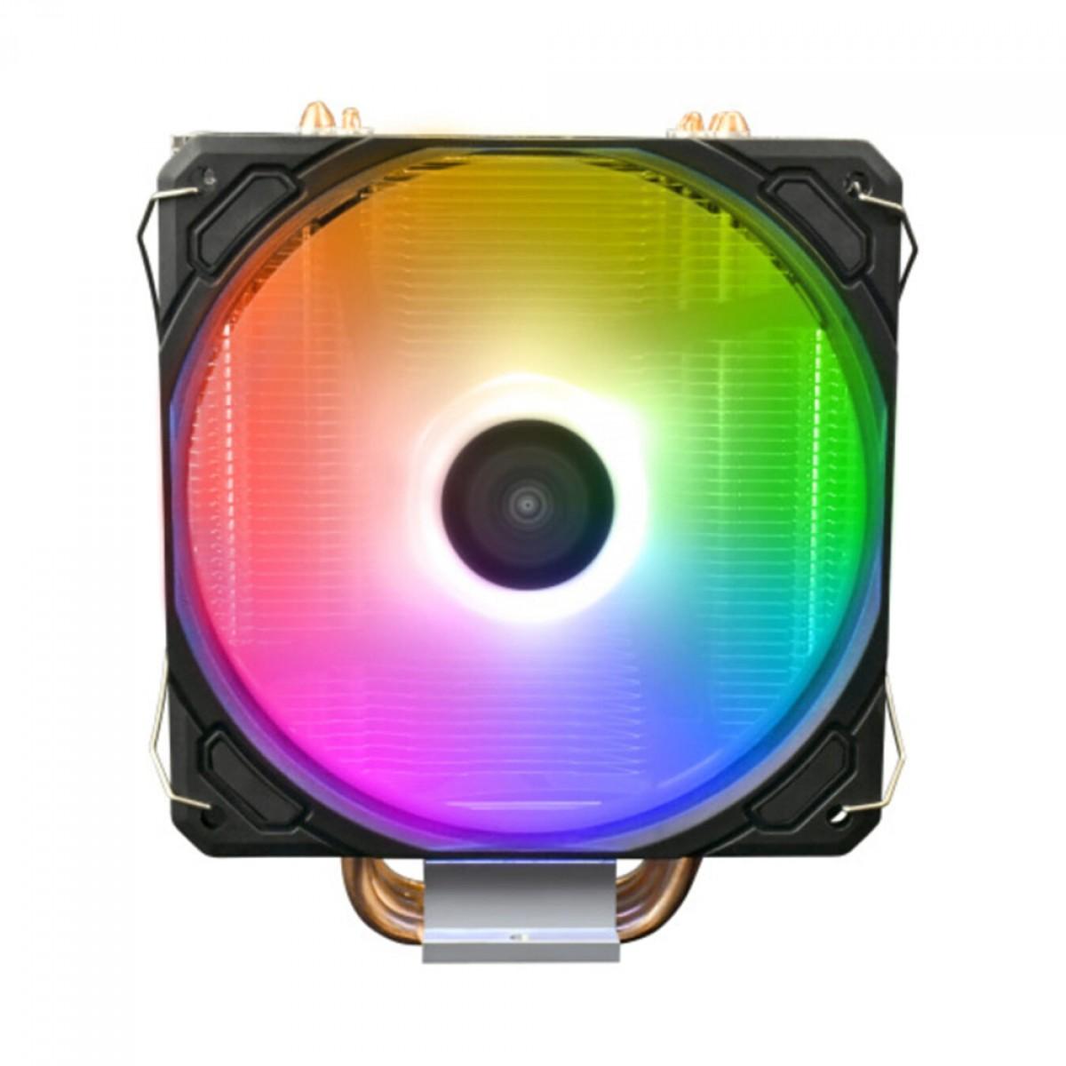 Cooler Processador Gamdias Boreas E1-410, RGB, 120mm, Intel-AMD, BOREAS E1-410