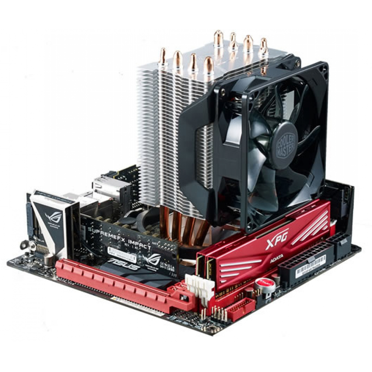 Cooler para Processador Cooler Master Hyper H410R, LED Red 92mm, Intel-AMD, RR-H410-20PK-R1