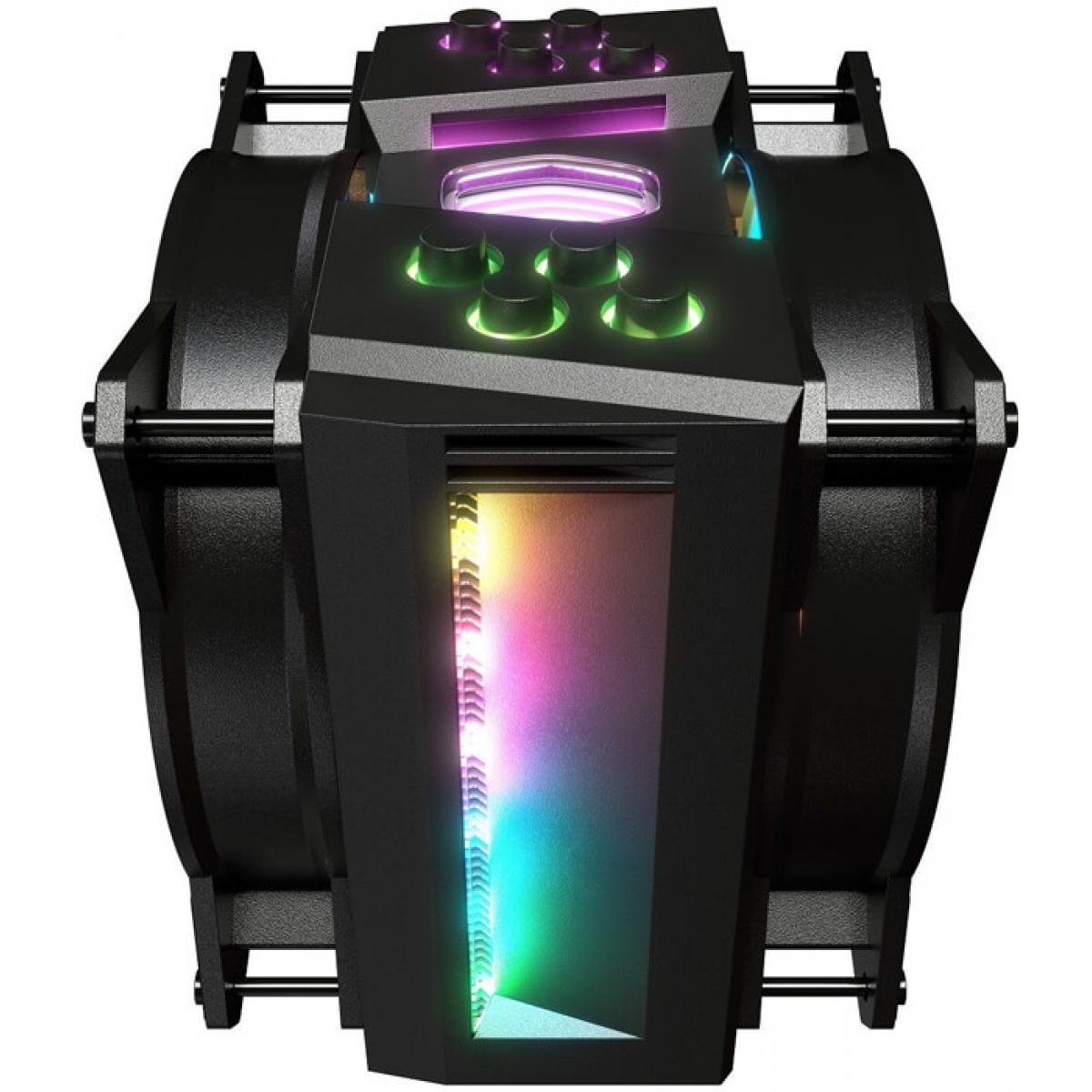 Cooler para Processador Cooler Master Masterair MA410M RGB 120mm, Intel-AMD, MAM-T4PN-218PC-R1