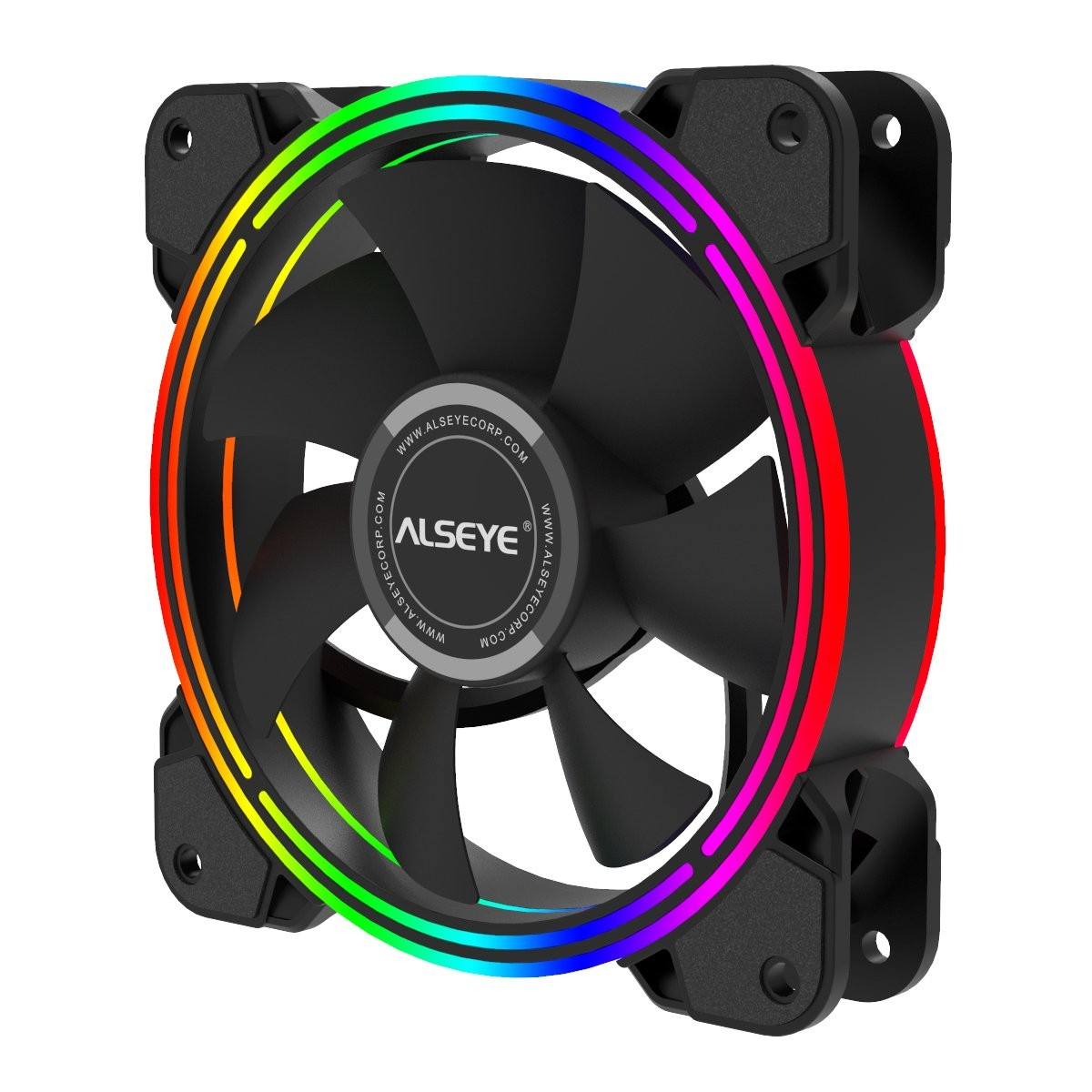 Cooler para Gabinete Alseye Halo 4.0 Black, RGB, 120mm
