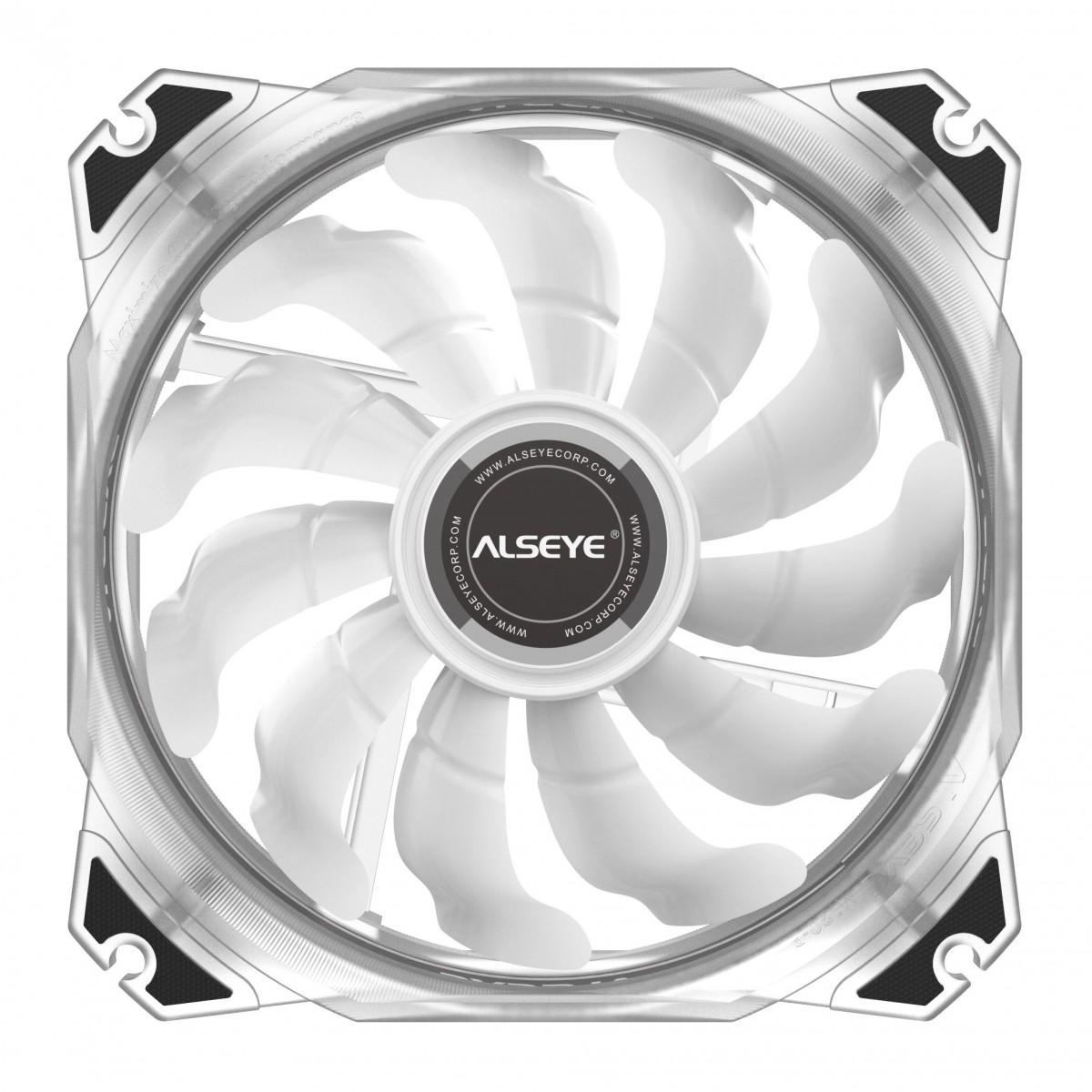 Cooler para Gabinete Alseye M120-P White, Rainbow, 120mm