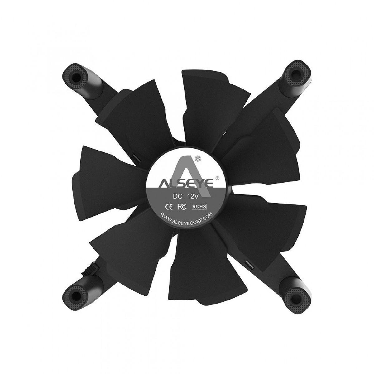 Cooler para Gabinete Alseye X12, ARGB, Grey, 120mm
